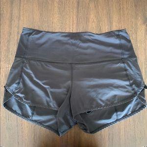 Lululemon Black High Rose Speed Up Shorts 8